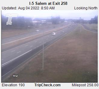 I-5 Salem, Oregon.  Courtesy Oregon Department of Transportation.