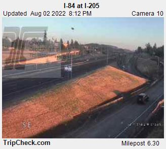 Interstate 84 at Interstate 205 in Portland.  Courtesy Oregon Department of Transportation.