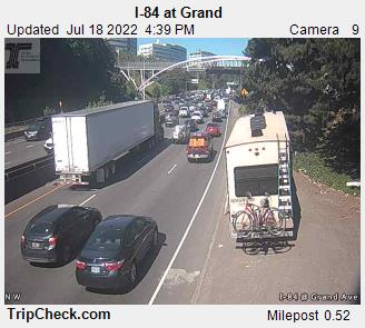 Interstate 84 at Grand in Portland.  Courtesy Oregon Department of Transportation.