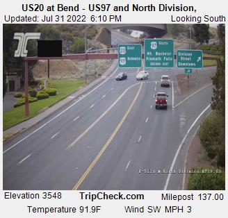 ODOT RoadCam - US20 at Bend - US97 and North Division Camera