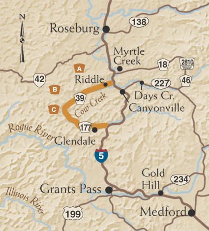 The Cow Creek Tour Route TripCheck Oregon Traveler Information