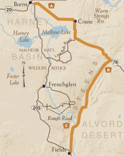 East Steens Map
