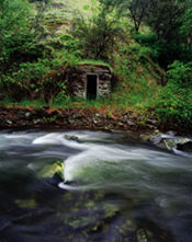 A shelter on the Canyon Creek, near John Day