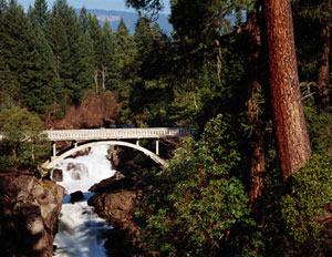 Bridge where North Umpqua River and Little River meet