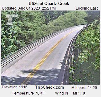 Hwy 26 at Quartz Creek