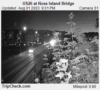Hwy 26 at Ross Island Bridge