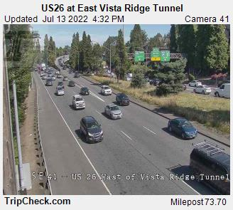 Hwy 26 at East Vista Ridge Tunnel