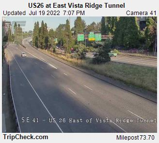 US 26 at East Vista Ridge Tunnel
