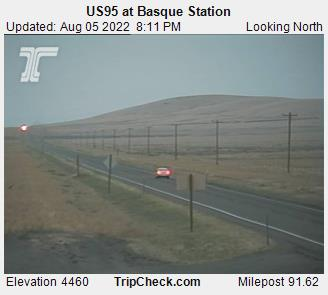 Hwy 95 at Basque Station