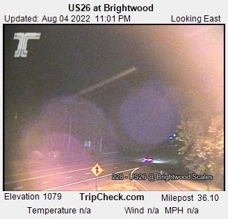 Highway 26 at Brightwood Webcam Image