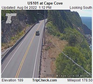 Hwy 101 at Cape Cove