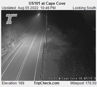 RoadCam - US101 at Cape Cove