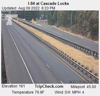 I84 Cascade Locks Oregon Elevation 210 feet