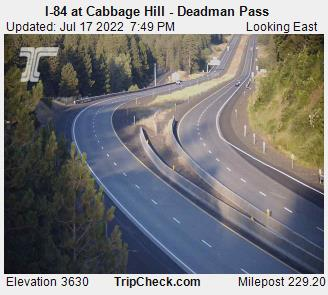 I84 Cabbage Hill Deadman Pass Oregon Elevation 3620 feet