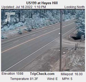 US199 at Hayes Hill Summit