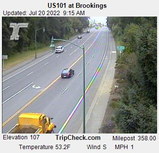 Hwy 101 at Brookings (looking north)