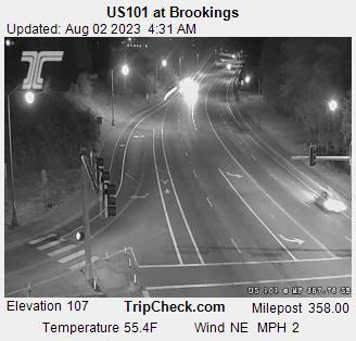 Hwy 101 at Brookings (looking south)