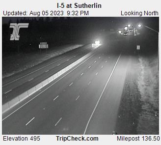 I-5 at Sutherlin (looking north)