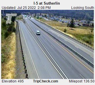 I-5 at Sutherlin (looking south)