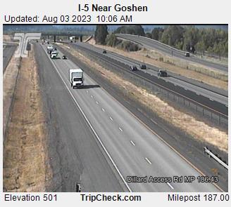 I-5 Goshen Mile 187