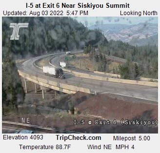 I-5 at Siskiyou Summit - Exit 6