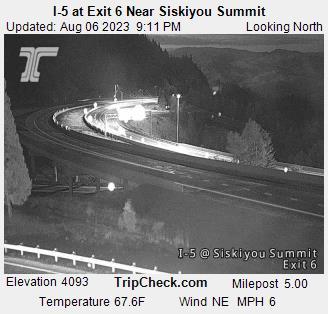 I-5 Siskiyou Summit mile 6