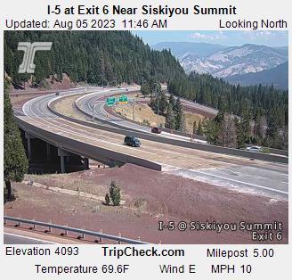 I-5 near Siskiyou Summit (exit 6)