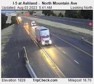 I 5 At Ashland North Mountain Ave Oregon Road And