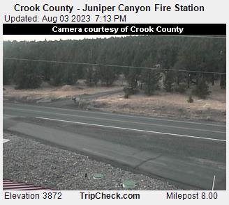 Crook County Juniper Canyon Fire Station Oregon Road