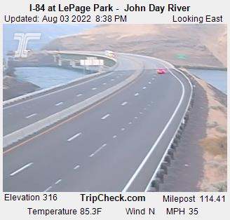I84 LePage Park John Day River Oregon Elevation 322 feet