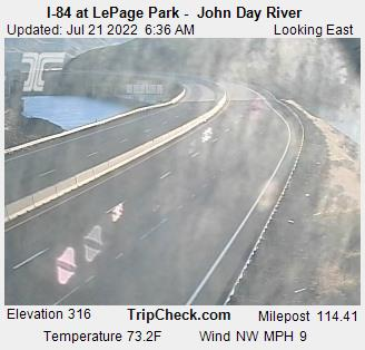RoadCam - I-84 at LePage Park - John Day River
