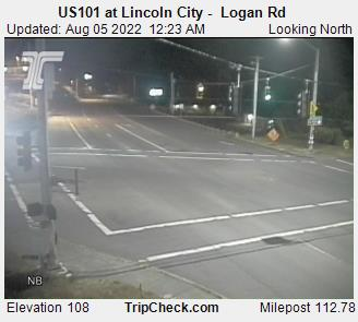 ODOT Camera located at US 101 in Lincoln City - Logan Road