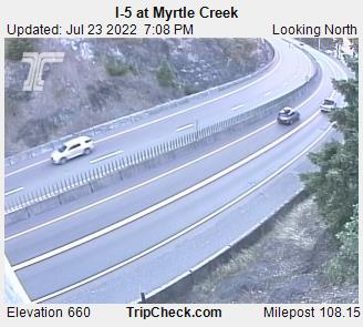 I-5 at Myrtle Creek (looking north)
