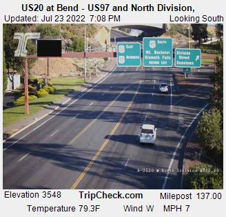 RoadCam - US97 @ Bend Parkway - Wall and  Revere