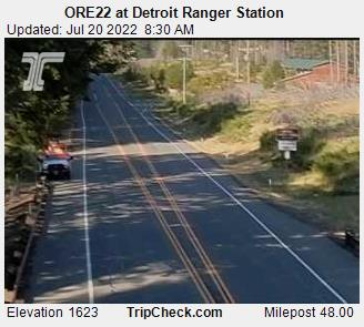 Hwy 22 at Detroit Ranger Station
