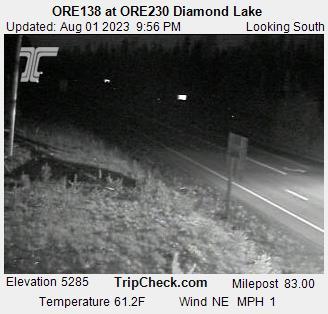 Ore230 At Ore138 Diamond Lake Oregon Road And Traffic Cam