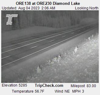 Hwy 230 at Hwy 138 - Diamond Lake (looking north)