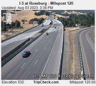 I 5 At Roseburg Milepost 120 Oregon Road And Traffic Cam
