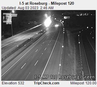 I-5 at South Roseburg (looking south - mp120)