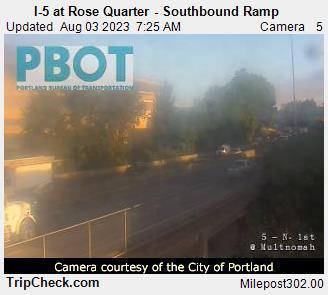 I-5 at Rose Quarter (southbound ramp)