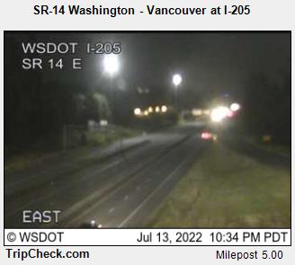 Hwy 14 at I-205 east