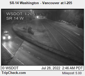 SR-14 at 1-205 West, in Vancouver, WA