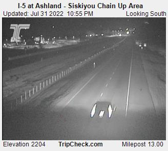 I-5 at Ashland, Siskiyou Chain up area (south)