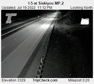 I 5 At Siskiyou Mp 2 Oregon Road And Traffic Cam