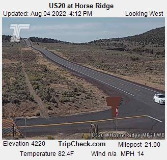 Us20 At Horse Ridge Oregon Road And Traffic Cam