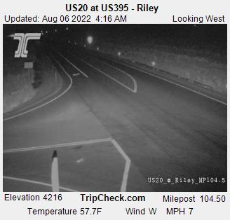 Us20 At Us395 Riley Oregon Road And Traffic Cam