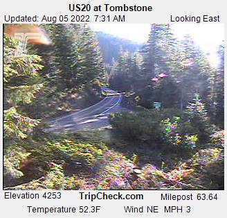 Road Cam: Highway 20 @ Toombstone, OR