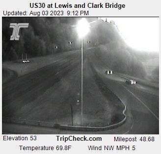 Hwy 30 at Lewis and Clark Bridge