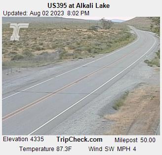 Us395 At Alkali Lake Oregon Road And Traffic Cam