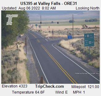 RoadCam - US395 at Valley Falls - ORE31
